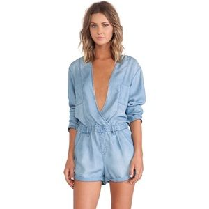 Sass & Bide The Drum Roll Romper in Washed Indigo